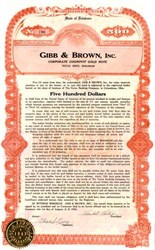 Gibb & Brown, Inc. 1924 - Gold Note Columbiana, Ohio