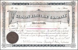 Gibson Electric Company 1888 - New York