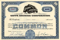 Gipps Brewing Corporation - Delaware 1953