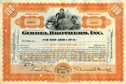 Gimbel Brothers, Inc. - New York 1950 - Bernard F. Gimbel as President - Famous New York Department Store