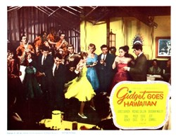 Gidget Goes Hawaiian Lobby Card Starring James Darren, Michael Callan, and Deborah Walley - 1961