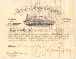 Gibraltar Gas Company 1857