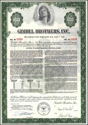 Gimbel Brothers, Inc. ( Famous New York  Department Store )