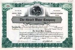 Girard Water Company 1921 - 0hio
