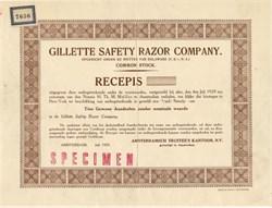 Gillette Safety Razor Company - Amsterdam 1929
