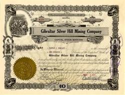 Gilbraltar Silver Hill Mining Company - Nye County, Nevada 1920