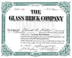 Glass Brick Company 1913 - New Jersey