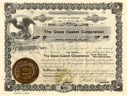 Glass Casket Corporation - Delaware 1917 ( WWI Casket Maker )