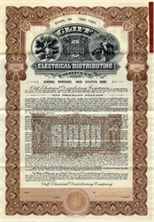 Cliff Electrical Distributing Company $1000 Gold Bond ( Became Niagara Falls Power Company)- New York 1910