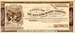 Glen Echo Resort Company -  Maryland 1892