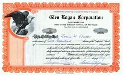 Glen Logan Corporation 1927