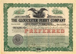 Gloucester Ferry Company - New Jersey 1920
