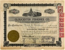 Gloucester Fisheries Company -  Massachusetts 1919