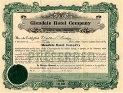 Glendale Hotel Company - California 1927