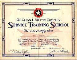 Glenn L. Martin Company (Now Lockheed Martin Corporation) printed signature of Glenn L. Martin - 1942