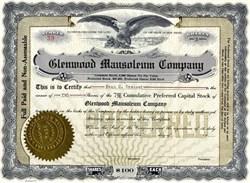 Glenwood Mausoleum Company - New Jersey 1920s
