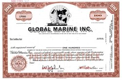 Global Marine Inc. ( Howard Hughes Glomar Explorer in Vignette )