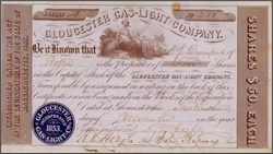 Gloucester Gas - Light Company 1858 - Massachsettes