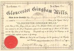 Gloucester Gingham Mills 1904