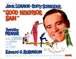 """""""Good Neighbor, Sam."""" Lobby Card Starring Jack Lemmon and Romy Schneider - 1964"""