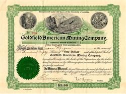 Goldfield American Mining Company - Nevada. Esmeralda. Goldfield. 1905
