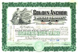 Golden Anchor Mining Company - Tonopah, Nevada 1906