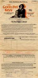 Good Bye Kiss Exhibitors Contract - 1928