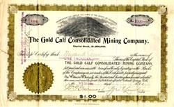 Gold Calf Consolidated Mining Company - Teller County. Cripple Creek,  Colorado 1899