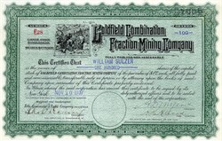 Goldfield Combination Fraction Mining Company - South Dakota 1907