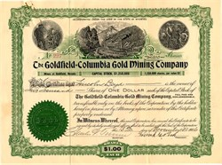 Goldfield = Columbia Gold Mining Company - Goldfield, Nevada 1906