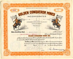 Golden Conqueror Mines Incorportated - Colorado 1940