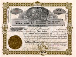Gold Crater Mining Company - 1907