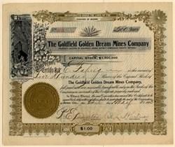 Goldfield Golden Dream Mines Company - Nevada. Esmeralda. Goldfield -   Arizona 1905