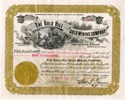 Gold Hill Gold Mining Company - Cripple Creek, Colorado 1899