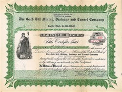 Gold Hill Mining, Drainage and Tunnel Company - Territory of Arizona 1907