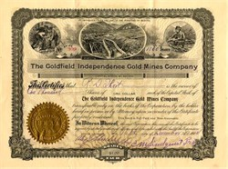 Goldfield Independence Gold Mines Company -  Incorporated in Territory of Arizona 1904