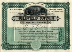 Goldfield Jupiter Mining Company - Goldfield District, Nevada 1908