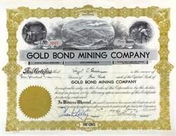 Gold Bond Mining Company - Spokane, Washington