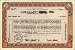 Goldblatt Bros., Inc. ( Famous Chicago department store )