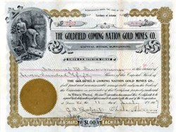Goldfield Coming Nation Gold Mines Co. 1907 - Territory of Arizona
