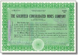 Goldfield Consolidated Mines Company - Nevada