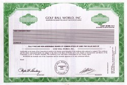 Golf Ball World, Inc.