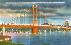 Golden Gate Bridge at Night - San Francisco, California