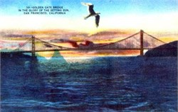 Golden Gate Bridge Postcard