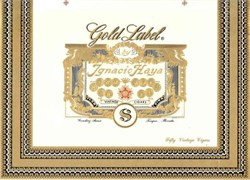 Gold Label Ignacio Haya Vintage Cigar Label