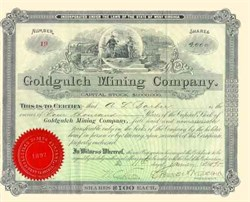 Goldgulch Mining Company - West Virginia 1898