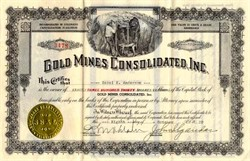 Gold Mines Consolidated, Inc. - Idaho Springs, Colorado