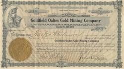 Goldfield Oakes Gold Mining Company 1906 - Tonopah, Nevada