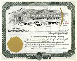 Gold Pick Mining and Milling Company -  Wyoming 1900