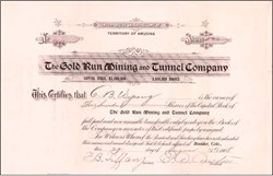 Gold Run Mining and Tunnel Company 1908